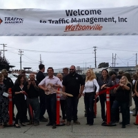 Ribbon Cutting at Traffic Management, Inc.