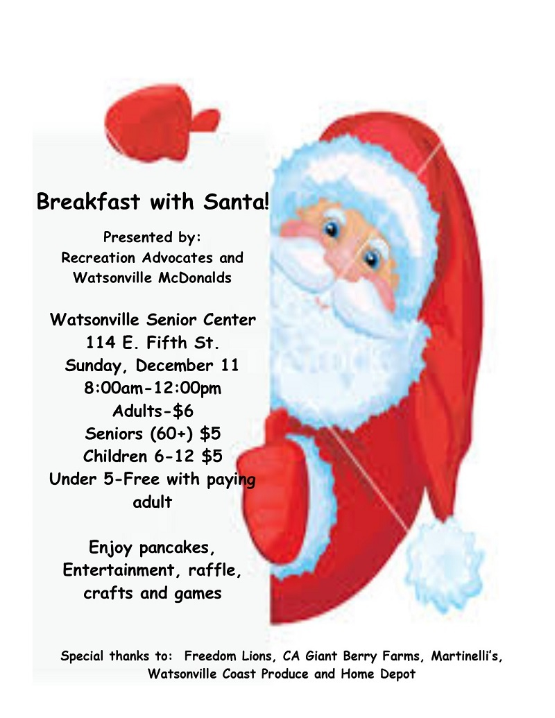 Breakfast with Santa - Pajaro Valley Chamber of Commerce
